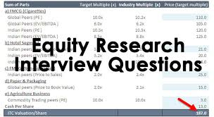 Accounting Interview Questions Magnificent Top 48 Equity Research Interview Questions With Answers