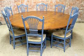 84 inch round oak table tuscany pedestal4