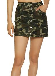 Almost Famous Jeans Size Chart Almost Famous Button Front Camo Mini Skirt