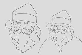 手書き風シンプルなサンタクロース クリスマスハロウィンお正月