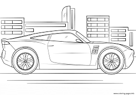 Disney Cars 3 Jackson Storm Coloring Page Lightning Mcqueen From