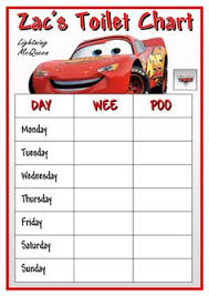 New Disney Cars Potty Training Chart From Pull Ups To Get