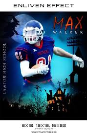 Max Walker Football Halloween Template - Enliven Effects