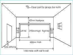 standard garage door sizes dimension 2 car dimensions south height parking ceiling size uk mm