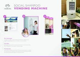 Shampoo Vending Machine Magnificent Natura Cosmetics SOCIAL SHAMPOO VENDING MACHINE Outdoor Advert By