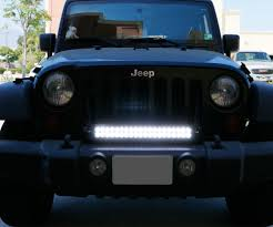 Jeep Grill With Light Bar Install Ijdmtoy Jeep Wrangler Front Grill Led Light Bar 7