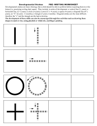 Pre Writing Strokes Worksheets   OT Pediatrics   Pinterest ...