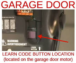 how to change reset the code for your garage door opener location of garage door opener learn button