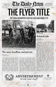Indesign Newspaper Template Front By Templates On