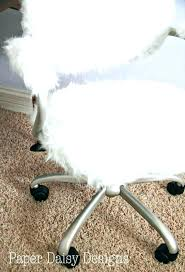 amazing white fur office chair 22