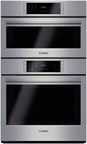 bosch hslp751uc 30 inch steam combination wall oven with 4 6 cu ft european convection oven steam convection 14 cooking modes self clean