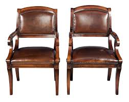 classic desk chairs. Classic Desk For Top Pair Of Antique Style Mahogany Leather Chairs