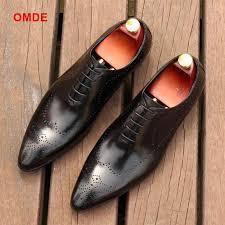 <b>OMDE</b> Pointed Toe Oxford <b>Shoes</b> For <b>Men</b> Fashion Lace-up <b>Mens</b> ...