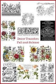 Iron Orchid Designs All Of The Fall Release Iod Decor Transfers In One Spot
