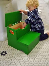 Diy Wood Projects Woodworking Project How To Build A Storage Step Stool For Kids Diy
