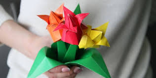 How To Make Origami Paper Flower Tulip From Paper Origami