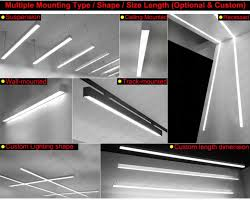 36w60w 1 2m 1 5m surface mount linear led office ceiling light fixture led architectural surface mount linear 4000k led linear surface mount ceiling