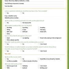 Nhs Birth Plan Birth Plan Template Download Birth Plan Template Free Editable