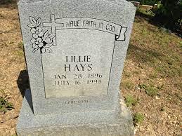 Lillie Gay Hays (1896-1998) - Find A Grave Memorial