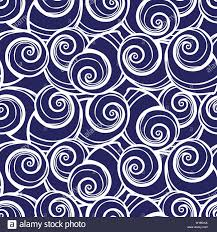 Designing Repeat Patterns For Textiles Vector Blue Spiral Seashells Repeat Pattern Suitable For