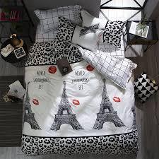3pcs romantic european architecture pattern bedding set duvet cover pillowcase twin queen size