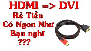 Cáp Chuyển Đổi HDMI Sang DVI Giá Rẻ Mua Trên Shopee Liệu Có Tốt ??? HDMI To  DVI - YouTube