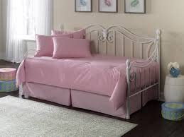 Pink And Cream Bedroom Bedroom Bedroom Charming Daybed Design With White Iron Frame