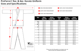 Karate Uniform Size Chart A Guide To Purchasing The Right Karate Uniform Awma Blog