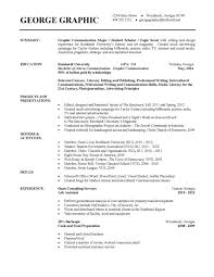Academic Resume Template For College