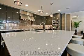 iced white sparkling quartz engineered used in kitchen countertops worktops surfaces