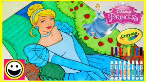 Such a great gift idea! Princess Cinderella Crayola Giant Color By Number Disney Princess Coloring Pages Color With Me Youtube