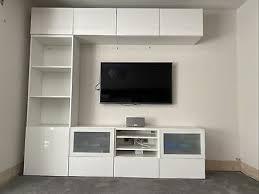 ikea besta tv storage combination white