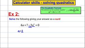 casio fx 991es plus calculator skills solving quadratics