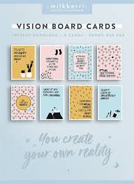 Vision Board Quote Cards 40 Quote Print Vision Board Kit Enchanting Quote Cards