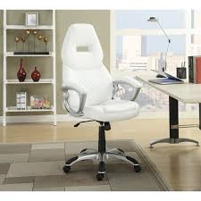 Off white office chair Design Ideas Cymax Coaster High Back Office Chair In White 800150