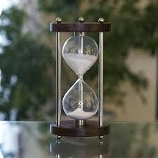 60 minutes hourglass solid walnut minute with metal spindles magnetic 60 minutes hourglass