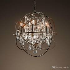 vintage crystal chandelier hanging lighting orb globe rustic chandeliers light for living dining room bedroom restaurant decor hanging ceiling light pendant