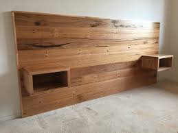 Solid Timber Bedroom Suites Recycled Hardwood Timber Bed Head With Floating Bedsides Bedroom
