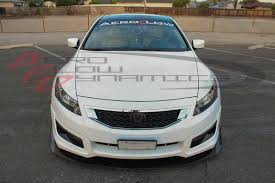 honda accord 2008 coupe. front splitter with fin honda 20082012 accord coupe 2008