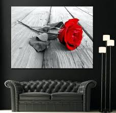 black and white wall art with red red rose modern home fine black white wall art on black and white with a splash of red wall art with black and white wall art with red red rose modern home fine black