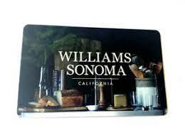 williams sonoma gift cards ebay