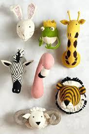animal head wall mount faux heads decor mounted black whitetail stuffed kids room furniture mou stuffed animal