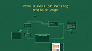 Pros Cons Of Raising Minimum Wage By Dyl Bae On Prezi