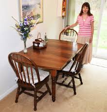 antique dining room table supermodel melanie with her redesigned table airplanes and rockets