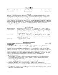 Java Resume Samples Format 2017 Sample Senior For Experienced