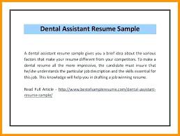 Dental Assistant Resume Objective Dental Assisting Resumes Dental Hygienist Classic Dental Assisting 60