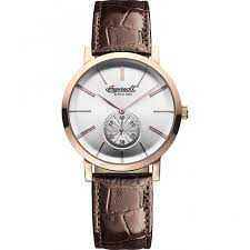 ingersoll inq012whrs watch british watch company ingersoll men 039 s springfield classic rose tone watch