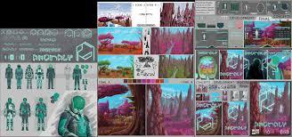 Anomaly Graphic Design Artstation Design Board Foreign Planet Alexander Garlick