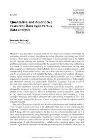 Purpose Of Descriptive Research Design Pdf Qualitative And Descriptive Research Data Type Versus