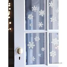30x Fensterbilder Set Fensterdeko Schneeflocken Design Für